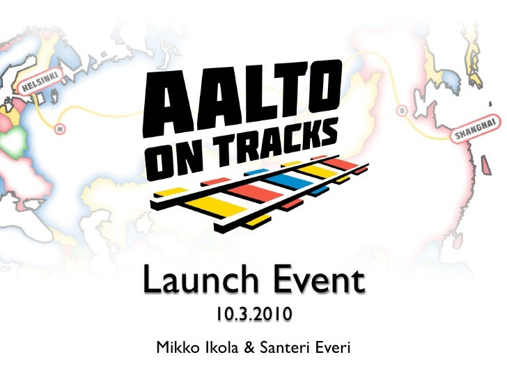 Launch Event         10.3.2010 Mikko Ikola & Santeri Everi