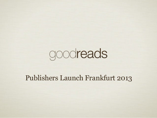 Publishers Launch Frankfurt 2013