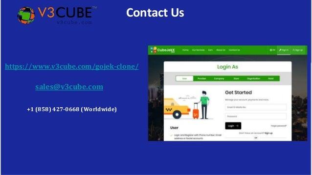 Contact Us https://www.v3cube.com/gojek-clone/ sales@v3cube.com +1 (858) 427-0668 (Worldwide)