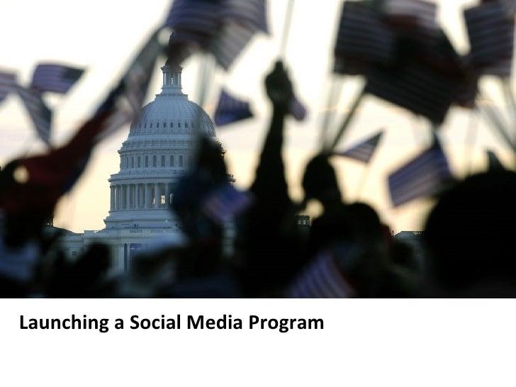 Launching a Social Media Program