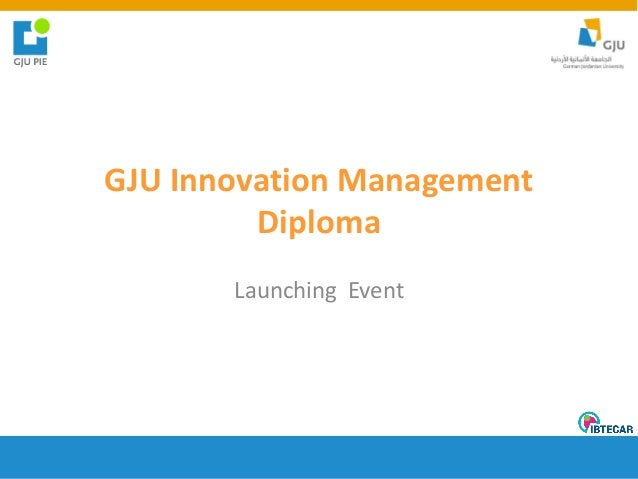 GJU Innovation Management Diploma Launching Event