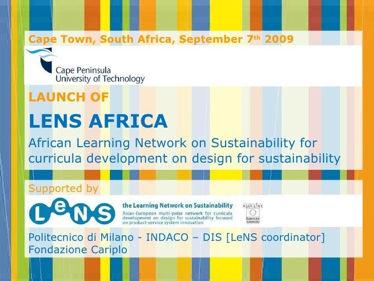 <ul><li>Cape Town, South Africa,  September 7 th   2009 </li></ul><ul><li>Cape Peninsula Universtity of Technology </li></...