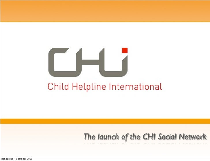 The launch of the CHI Social Network  donderdag 15 oktober 2009