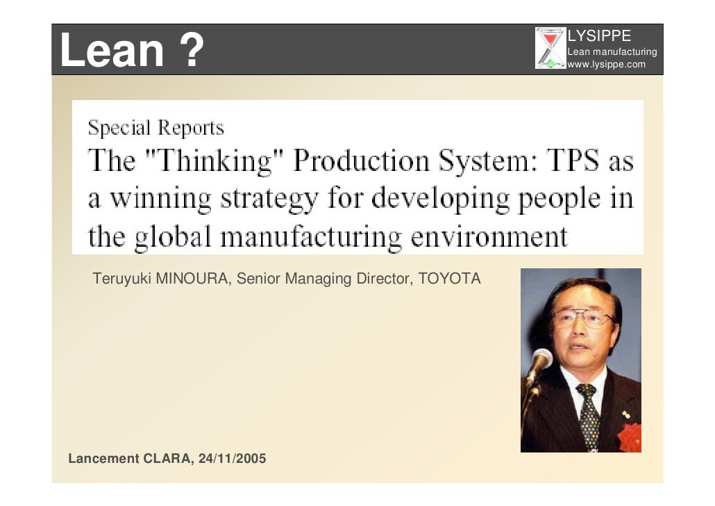 LYSIPPE Lean ?                                                  Lean manufacturing                                        ...