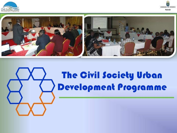 The Civil Society Urban <br />Development Programme<br />