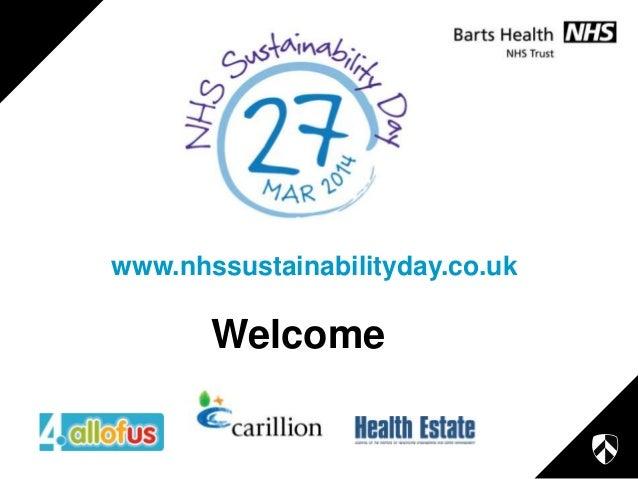 www.nhssustainabilityday.co.uk  Welcome