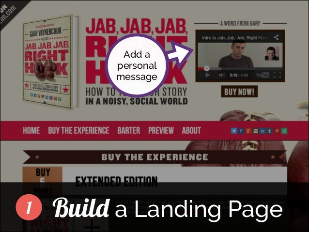Add a personal message  ]  1  Build a Landing Page