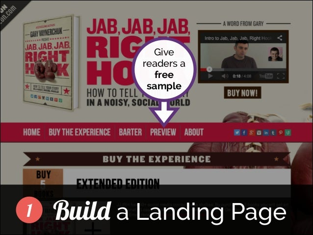 Give readers a free sample ]  1  Build a Landing Page