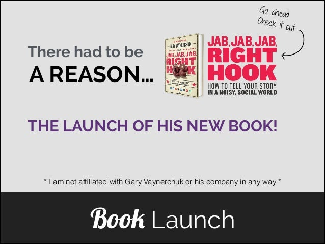 Go ahe ad. Check i t ou t  There had to be  A REASON… THE LAUNCH OF HIS NEW BOOK! ]  * I am not affiliated with Gary Vayner...