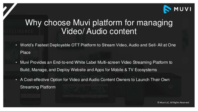 Launch your Own OTT Platform instantly with Muvi