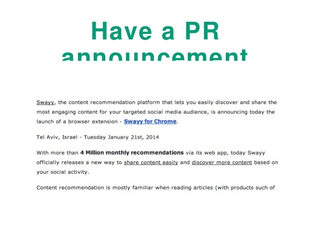 pr announcement