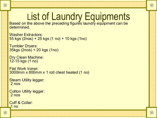 Laundry An Housekeeper Perspective