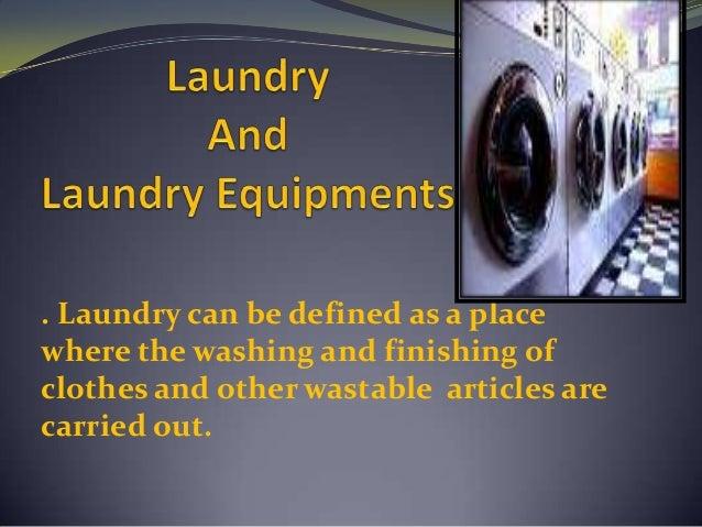 Laundry equipment notes