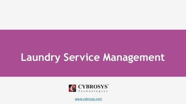www.cybrosys.com Laundry Service Management