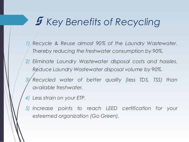 90 recycling of laundry wastewater through membranes for Benefits of leed certification