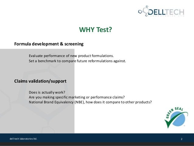 Laundry Care Products Performance Testing Slide 2