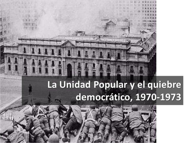 La Unidad Popular y el quiebre  democrático, 1970-1973