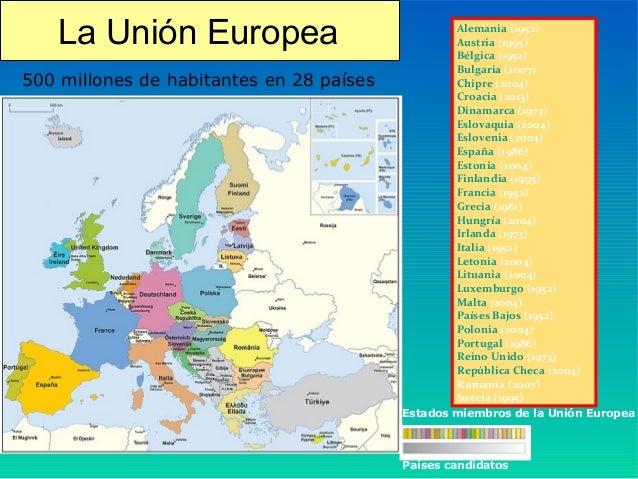 españa en la union europea para niños