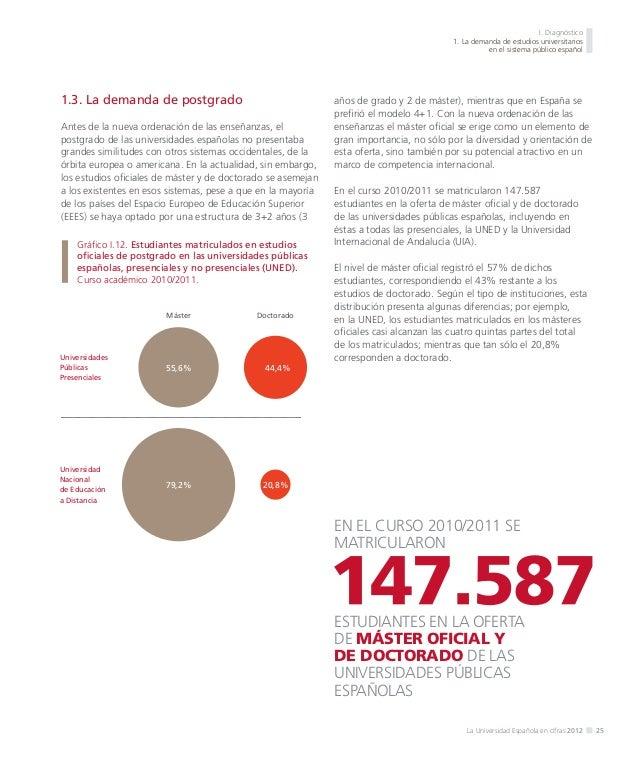 I. Diagnóstico 1. La demanda de estudios universitarios en el sistema público español  Gráfico I.16. Distribución de la ma...