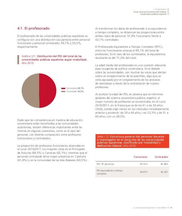 I. Diagnóstico 4.Los recursos humanos del sistema universitario público español  Las comunidades autónomas con una proporc...