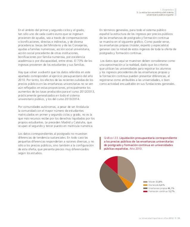 I. Diagnóstico 5. La estructura económica del sistema universitario público español  Gráfico I.35. Derechos reconocidos de...