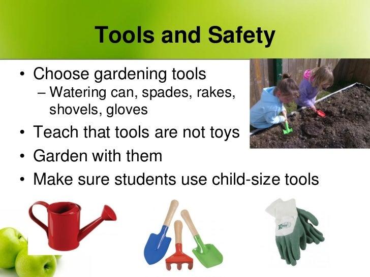 Farm to preschool garden workshop from seed to snack for Gardening tools preschool