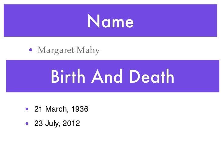Laura Margaret Mahy  Slide 2