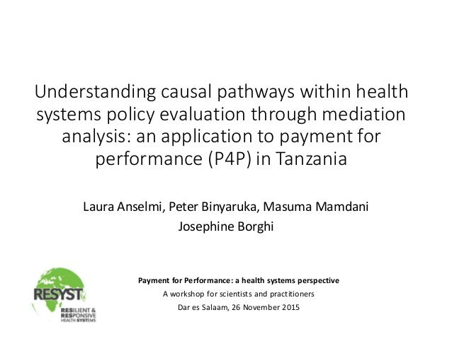 Understanding causal pathways within health systems policy evaluation through mediation analysis: an application to paymen...