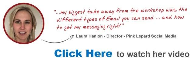 Laura Email Marketing Workshop Testimonial