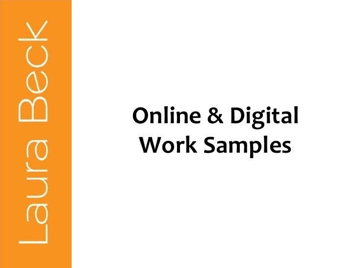 Online & Digital Work Samples<br />