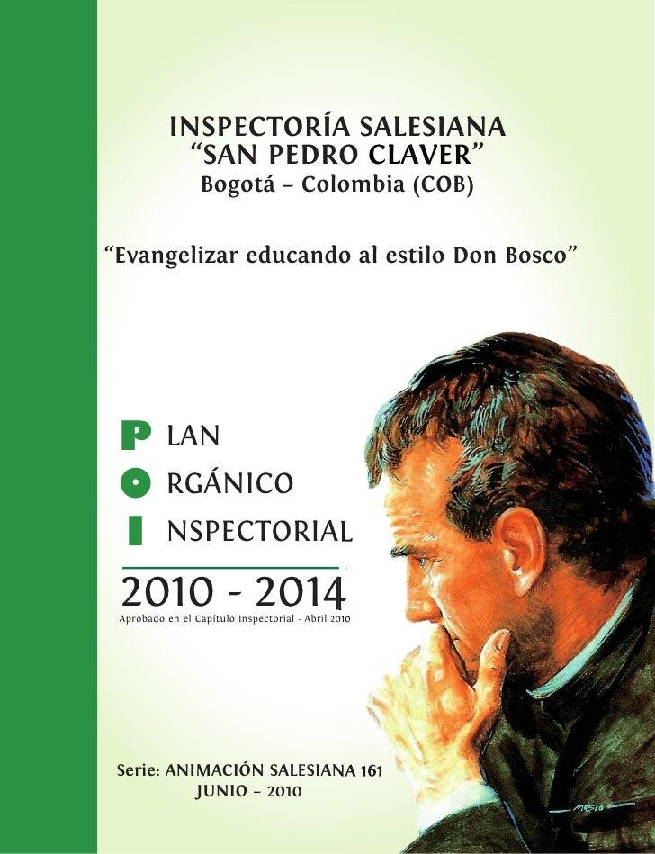 PLAN ORGÁNICO INSPECTORIAL 2010 - 2014