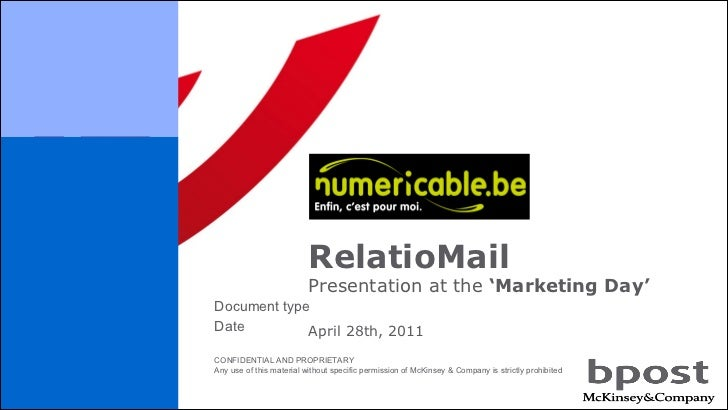 RelatioMail April 28th, 2011 Presentation at the  'Marketing Day'