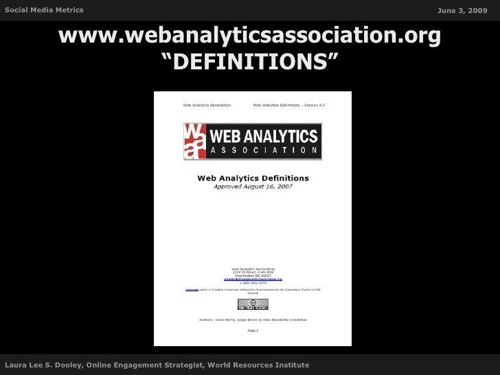 Social Media Metrics                                                           June 3, 2009                 www.webanalyti...