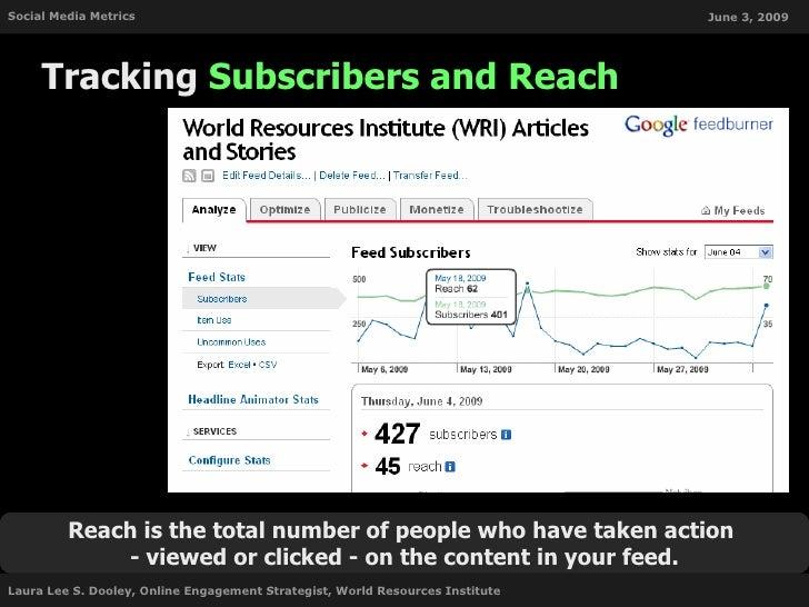 Social Media Metrics                                                           June 3, 2009          Tracking Subscribers ...