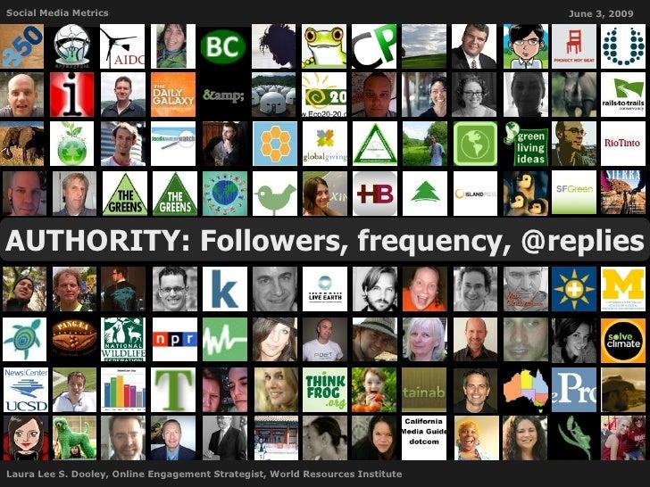 Social Media Metrics                                                           June 3, 2009     AUTHORITY: Followers, freq...