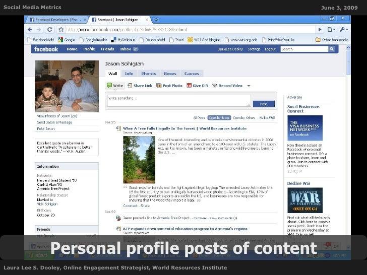 Social Media Metrics                                                           June 3, 2009                     Personal p...
