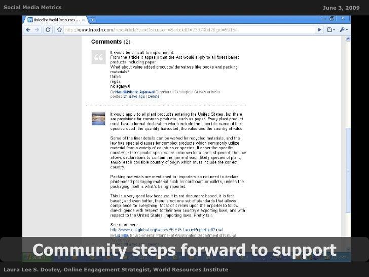 Social Media Metrics                                                           June 3, 2009              Community steps f...