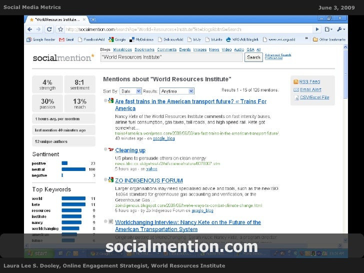 Social Media Metrics                                                           June 3, 2009                               ...