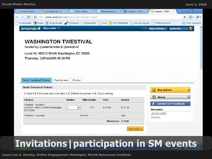 Social Media Metrics                                                           June 3, 2009            Invitations partici...
