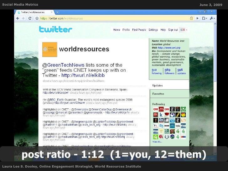 Social Media Metrics                                                           June 3, 2009               post ratio - 1:1...