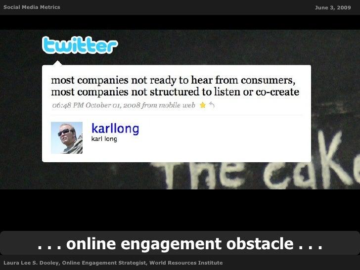 Social Media Metrics                                                           June 3, 2009                . . . online en...