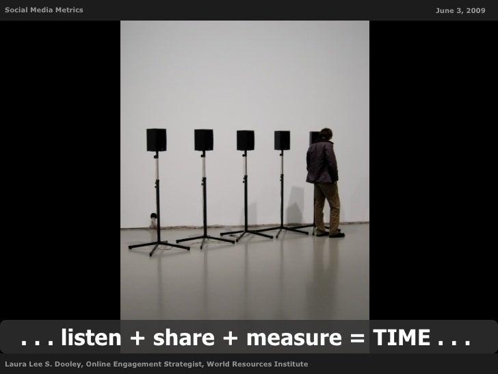 Social Media Metrics                                                           June 3, 2009        . . . listen + share + ...