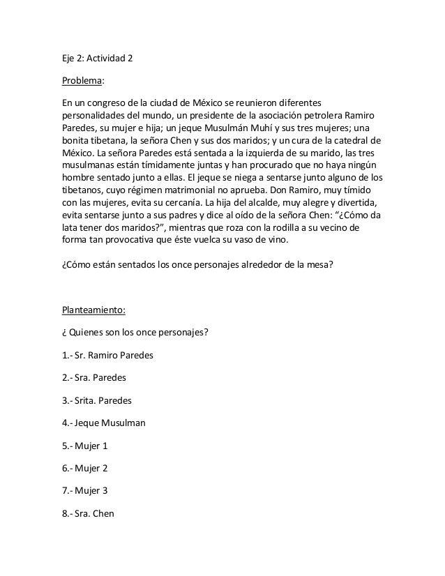 Eje 2: Actividad 2 Problema: En un congreso de la ciudad de México se reunieron diferentes personalidades del mundo, un pr...