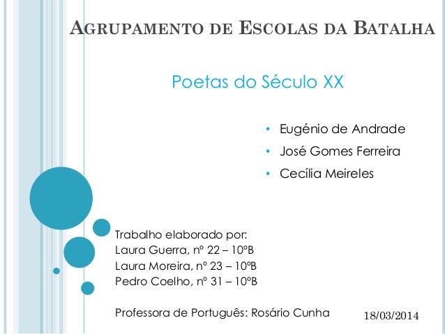 Trabalho elaborado por: Laura Guerra, nº 22 – 10ºB Laura Moreira, nº 23 – 10ºB Pedro Coelho, nº 31 – 10ºB Professora de Po...