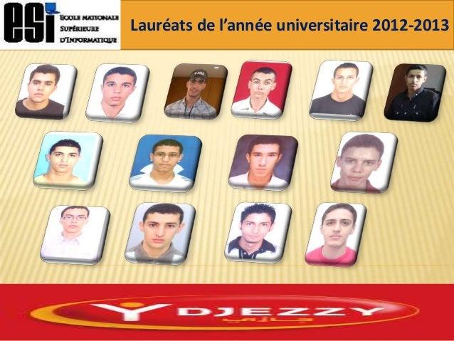 Lauréats de l'année universitaire 2012-2013