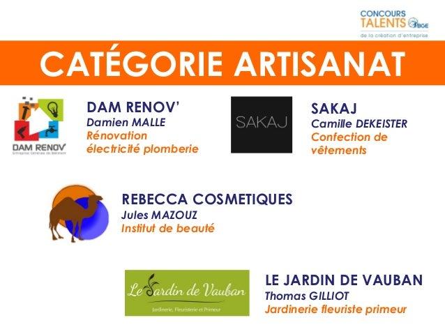 DAM RENOV' Damien MALLE Rénovation électricité plomberie REBECCA COSMETIQUES Jules MAZOUZ Institut de beauté CATÉGORIE ART...
