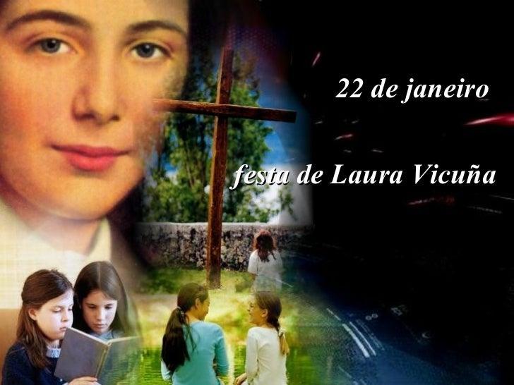 22 de janeiro  festa de Laura Vicuña