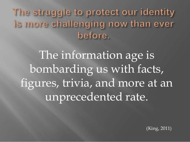 personal identity in online communities Identity management in cyberspace when you join an online community indicates the person's need to split off his entire personal identity from his.