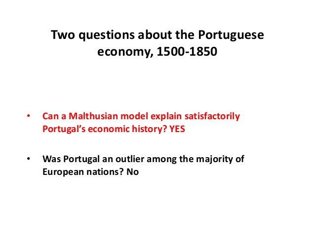 Jaime Reis. El crecimiento económico de Portugal 1500-1850. ¿Existe u…