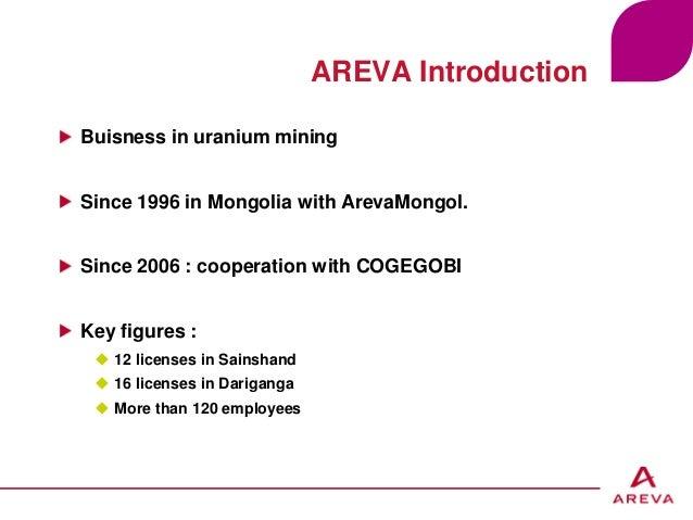 Environnement – Nicolas Glenat – 16/02/12 - p.1 AREVA Introduction Buisness in uranium mining Since 1996 in Mongolia with ...